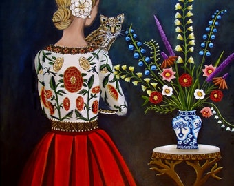 Art Print of a Still Life Interior Painting-Lost and Found-By catherine nolin