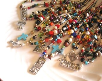 Scripture Moroccan Beaded Necklace