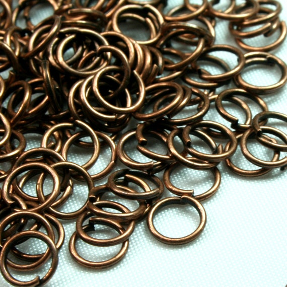 5.5mm Antique Copper Gauge 21 Open Jump Ring JRO-AC5 - 10 Grame ( Approx 210pcs)