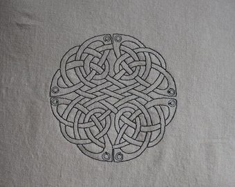 CUSTOMIZABLE Celtic Knot Throw Pillow Cover