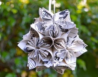 Dennis the Menace Book Small Paper Flower Pomander Ornament