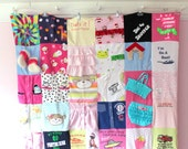 Custom Baby Clothes Quilt - Memory Blanket - Memory Quilt - Baby Blanket