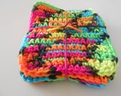 Crochet Coasters Set of Four Blacklight. Free Shipping
