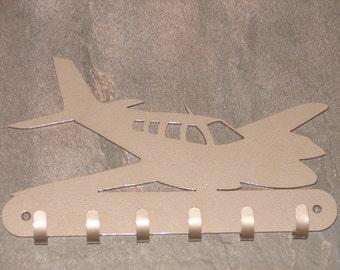 Twin Engine Airplane KEY RACK Home Decor Hat Leash Hanging Cesna Beechcraft Piper