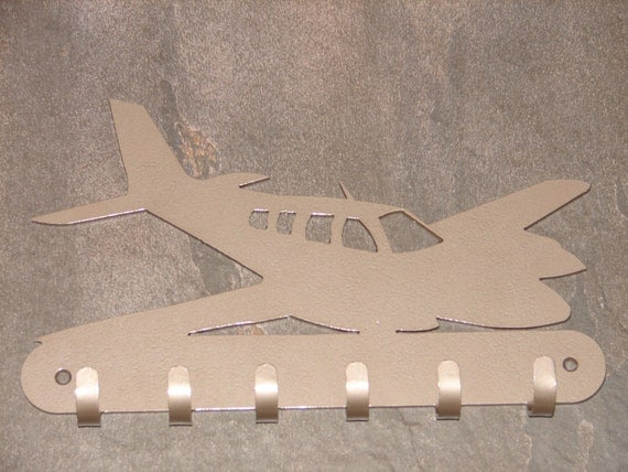 Twin Engine Airplane Key Rack Home Decor Hat Leash Hanging