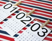 2016 Mini Calendar- Instant Printable {Mod Numbers Design}