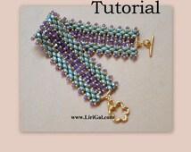 Lidia Super duo Beadwork Bracelet PDF Tutorial