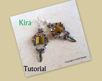 Kira SuperDuo Beadwork Earrings PDF Tutorial