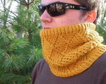 cowl neckwarmer men women -  PDF Knitting Pattern - Black Diamond Warmer -  DIY Christmas gift - Help support the Wounded Warrior Project