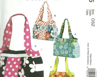MCCALL'S PATTERN M6335, ladie's purses and totes in different sizes, casual, new and uncut
