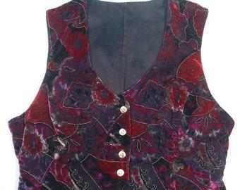 Womens Velvet Vest
