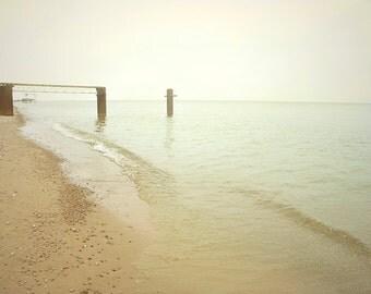 Simple Summer - Art Print. Beach photography, landscape photography, lake huron, michigan, pale green.