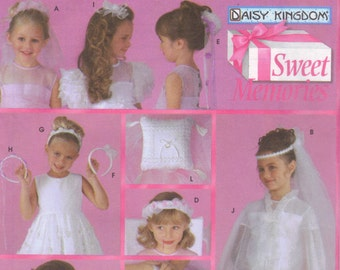 Communion and Bridal Accessories, Simplicity sewing pattern 5602. Daisy Kingdom, one size