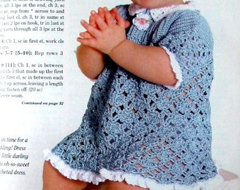 ON SALE: Blue lacy dress for baby toddler girl 18 months - Featured in a magazine
