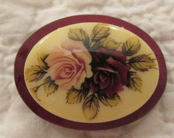 Vintage Brooch with Roses SALE