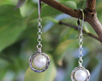 Silver Framed Pearls