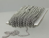 30 feet Stainless Steel Chain ROLO chain - 2.5mm  - Bulk Chain Necklace Wholesale DIY Jewelry Chain - Ship from USA California
