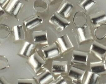 500 pcs Silver plated crimp tube - 2x2mm