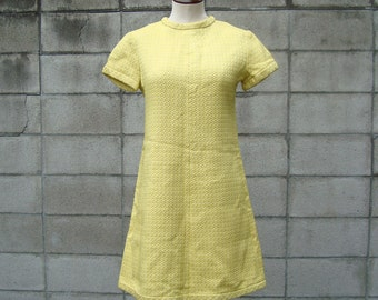 Suzy Perette Dress 1960s  yellow party dress
