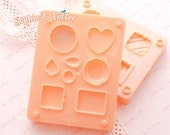 Fuwa Fuwa Miniature Candy Mold (Resin Mold or Polymer Clay Mold)