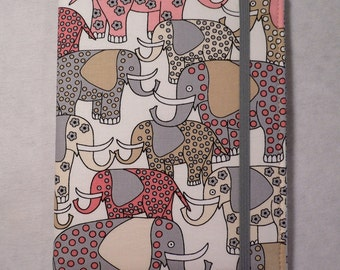 Kindle cover Hardcover, Kindle Case, Kindle Paperwhite Cover, iPad Mini, Nook Tablet Cover,  Book Style, Pink Elephants