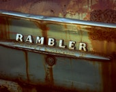 Rambler - Ford, Chevy, Dodge, Color Silver Art Print - Grunge & Textures - Fine Art Photography - Wall Art
