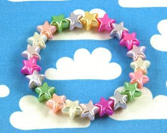 Pearly Pastel Star Bracelet