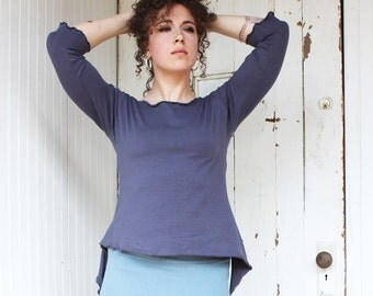 3/4 Sleeve Fairy Tale Top - Made to Order from Organic Fabric - Many Colors Available