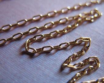 Shop Sale..10 feet, 14kt 14k Gold Fill Bulk Chain, DRAWN CABLE Necklace Chain, Bulk Discount, 10-18% Less, 2.5x1.2 mm, wholesale ssgf sgf3