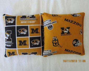 University of Missouri Mizzou Tigers Cornhole - Set of 8 Cornhole or Baggo Bean Bag Toss