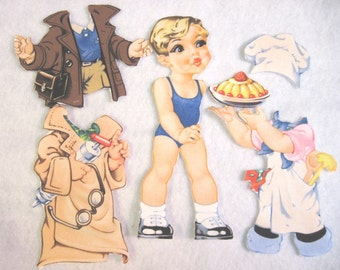 Children's Fabric paper Doll Cutie - Jimmy