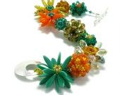 Colorful Flower Bracelet, Nature's Smile