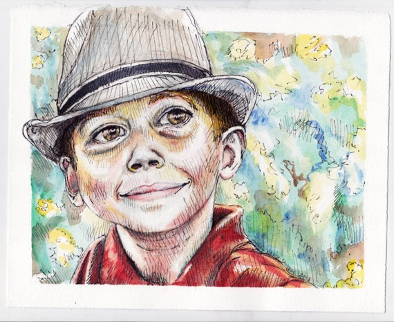 Watercolor And Pen Portraits | www.imgkid.com - The Image ...
