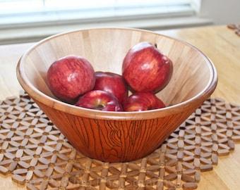 Tree Bark Woodburned Bowl