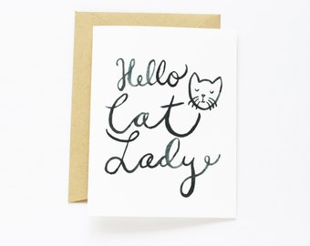 Any Occasion Card - Hello Cat Lady