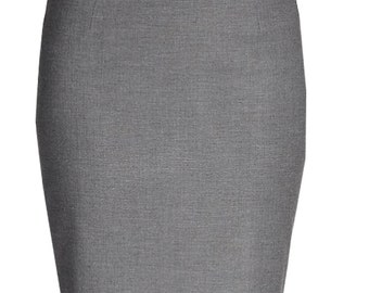 Fully Lined pencil Skirt, Wool blend Pencil Skirts