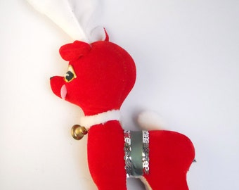 1950s KITSCHY RED REINDEER figurine, made in Japan