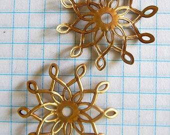 Pin wheel Metal Brass Findings (2)
