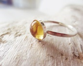 Citrine stacking ring.  Citrine ring. Silver stacking ring.  5mm ring.  Yellow stone ring.  Citrine jewelry.  Yellow ring.  Yellow jewelry.