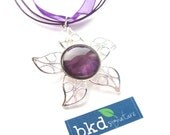 Purple Starburst Style Star Shaped Magnetic Nail Polish Pendant Necklace - Limited Edition Nail Polish Jewelry