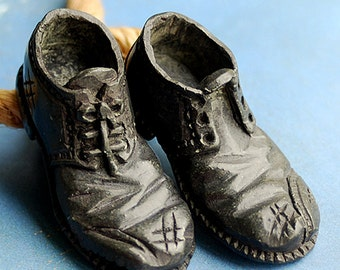 A PAIR of shoes you will NEVER wear...  metal shoes...  attention grabber from an estate sale... Home Decor... K392