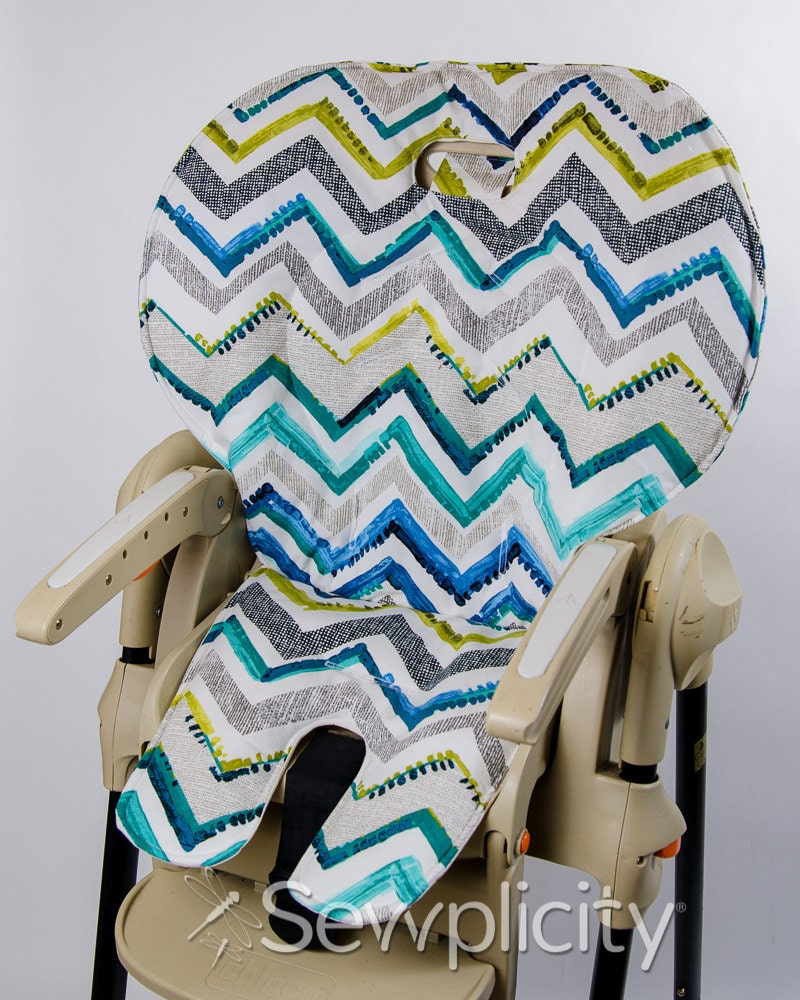 Price easy fold healthy care high chair cover chevron contempo
