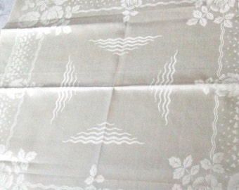 11 Damask Linen Napkins 22 Inches Made in Scotland