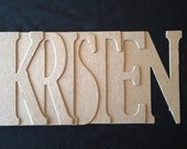 7 Letter NAME Bare Chipboard Album (Do It Yourself) 7pc Any NAME or WORD