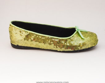 Lime Green Sequin Shoes for Your Little Girl