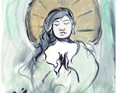 original painting of zen master queer Buddha ~ Compassion