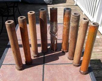 Group of 9 Vintage Bowen Hunter Thread Spools
