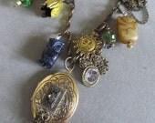 Steampunk Locket Charm Necklace