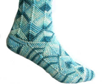 Fairytale socks Blue, Miami Color, size EU 34/35
