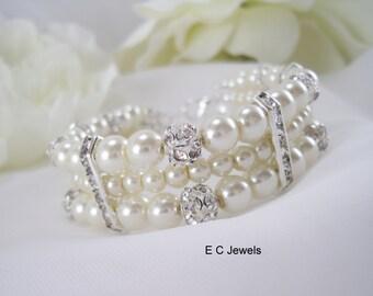 Stunning Pearls and Rhinestones